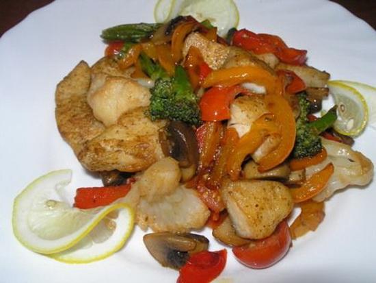 Судак с овощами в духовке 2