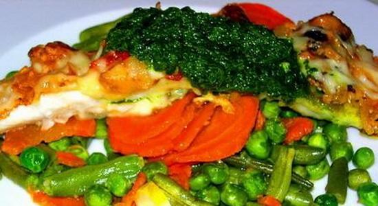 Судак тушеный с овощами 2