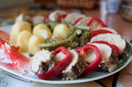 1 Фаршированная щука с овощами в мультиварке
