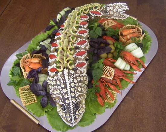 Украшение рыбного блюда